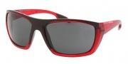 Prada Sport PS 01OS Sunglasses Sunglasses - MAP1A1 Bordeaux Demi Shiny / Gradient Gray