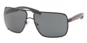 Prada Sport PS 53OS Sunglasses  Sunglasses - 1B01A1 Black Demi Shiny / Gray