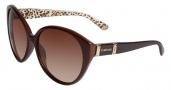 Bebe BB 7077 Sunglasses Sunglasses - Topaz Crystal / Brown Gradient Lenses