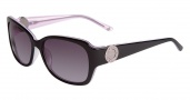 Bebe BB7076 Sunglasses Sunglasses - Black Rose / Grey Gradient Lenses