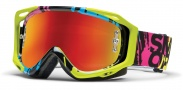 Smith Optics Fuel V.2 Sweat-X M Moto Goggles Goggles - Neon Mission / Red Mirror