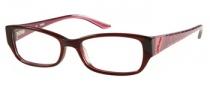 Guess GU 2305 Eyeglasses Eyeglasses - BU: Crystal Burgundy