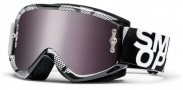 Smith Optics Fuel V.1 Max Sand Moto Goggles Goggles - Black - Silver Static / Platinum Mirror w/ extra Clear AFC Lens