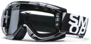 Smith Optics Fuel V.1 Max Enduro Moto Goggles  Goggles - Black / Silver Static / Clear AFC Dual Airflow Lens