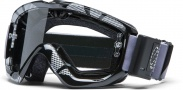 Smith Optics Option OTG Turbo Fan Moto Goggles Goggles - Black  Silver Static / Yellow Dual Airflow AFC Lens