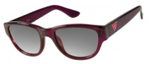 Guess GU 7223 Sunglasses Sunglasses - RSP-35: Raspberry Crystal