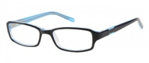 Bongo B Feisty Eyeglasses Eyeglasses - BLK: Black Blue