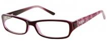 Bongo B Lacey Eyeglasses Eyeglasses - BUR: Burgundy Pink