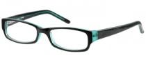 Bongo B Satin Eyeglasses Eyeglasses - BLKGRN: Black Green