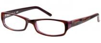 Bongo B Satin Eyeglasses Eyeglasses - TORD:  Tortoise Red