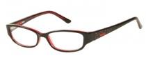 Bongo B Tara  Eyeglasses Eyeglasses - BLK: Black Red
