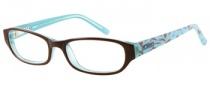 Bongo B Vicky Eyeglasses  Eyeglasses - BRN: Brown Crystal Blue