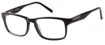 Harley Davidson HD 437 Eyeglasses Eyeglasses - BLK: Shiny Black