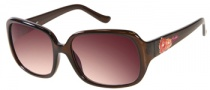 Candies COS Leigh Sunglasses Sunglasses - BRN-34: Transparent Brown