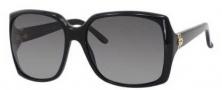 Gucci 3589/S Sunglasses Sunglasses - 0807 Black (WJ Gradient Shaded Polarized Lens)