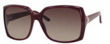 Gucci 3589/S Sunglasses Sunglasses - 0LHF Opal Burgundy (D8 Brown Gradient Lens)