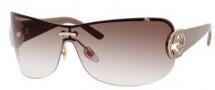 Gucci 4224/S Sunglasses Sunglasses - 0X56 Gold / Beige (02 Brown Gradient Lens)