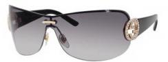 Gucci 4224/S Sunglasses Sunglasses - 0BLS Gold / Shiny Black (EU Gray Gradient Lens)