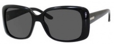 Gucci 3577/S Sunglasses Sunglasses - 0WF6 Shiny Black (E5 Smoke Lens)
