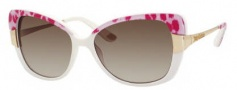 Juicy Couture Juicy 546/S Sunglasses Sunglasses - 0EG8 Ivory Leopard (Y6 Brown Gradient Lens)