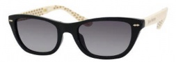 Juicy Couture Juicy 532/S Sunglasses Sunglasses - 0D28 Black Ivory (Y7 Gray Gradient Lens)