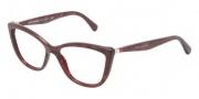 Dolce & Gabbana DG3138 Eyeglasses Eyeglasses - 2591 Gauze Red / Demo Lens