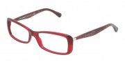 Dolce & Gabbana DG3139 Eyeglasses Eyeglasses - 550 Transparent Red / Demo Lens