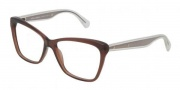 Dolce & Gabbana DG3140 Eyeglasses  Eyeglasses - 2542 Transparent Brown / Demo Lens