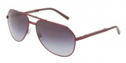 Dolce & Gabbana DG2106 Sunglasses Sunglasses - 11618G Matte Red / Gray Gradient