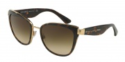 Dolce & Gabbana DG2107 Sunglasses  Sunglasses - 02/13 Gold / Brown Gradient