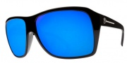 Electric Capt. Ahab Sunglasses Sunglasses - Gloss Black / Melanin Grey Blue Chrome