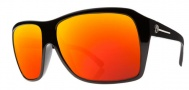 Electric Capt. Ahab Sunglasses Sunglasses - Gloss Black / Melanin Grey Fire Chrome