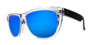 Electric Flip Side Sunglasses Sunglasses - Black Crystal / Melanin Grey Blue Chrome