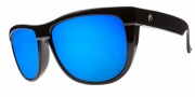 Electric Flip Side Sunglasses Sunglasses - Gloss Black / Melanin Grey Blue Chrome