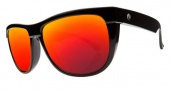 Electric Flip Side Sunglasses Sunglasses - Gloss Black / Melanin Grey Fire Chrome