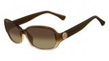 Michael Kors M2844S Eve Sunglasses Sunglasses - 214 Lt. Brown / Pink Gradient