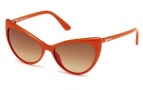 Tom Ford FT0303 Anastasia Sunglasses Sunglasses - 42F Shiny Orange / Gradient Brown
