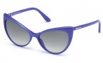 Tom Ford FT0303 Anastasia Sunglasses Sunglasses - 81Z Shiny Violet / Gradient Or Mirror