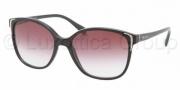 Prada PR 01OS Sunglasses Sunglasses - 1AB4V1 Black / Violet Gradient