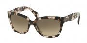 Prada PR 07PS Sunglasses Sunglasses - UAO3D0 Spotted Opal Brown / Light Brown Gradient Light Grey