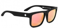 Spy Optic Discord Sunglasses Sunglasses - Matte Black / Grey with Pink Spectra