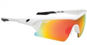 Spy Optic Screw Over Sunglasses Sunglasses - Shiny White / Bronze with Red Spectra