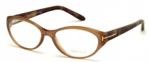 Tom Ford FT5244 Eyeglasses Eyeglasses - 047 Light Brown
