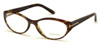 Tom Ford FT5244 Eyeglasses Eyeglasses - 052 Dark Havana