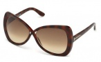 Tom Ford FT0277 Jade Sunglasses  Sunglasses - 52F Dark Havana / Gradient Brown