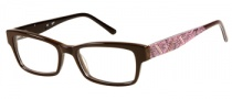 Candies C Gwen Eyeglasses Eyeglasses - BRN: Brown