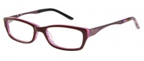 Candies C Cara Eyeglasses Eyeglasses - BU: Burgundy Purple