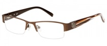 Candies C Leona Eyeglasses Eyeglasses - BRN: Matte Brown