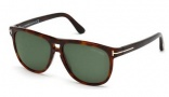 Tom Ford FT0288 Lennon Sunglasses Sunglasses - 52F Dark Havana / Gradient Brown