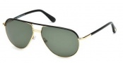 Tom Ford FT0285 Cole Sunglasses Sunglasses - 01J Shiny Black / Roviex